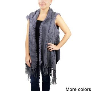 Saachi Women's Geometric Open Front Vest (China)