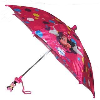 Disney Minnie Mouse Girls' Bowtique Pink 3-D Handle Umbrella