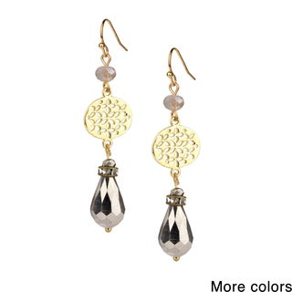 Saachi Filigree Beaded Drop Earrings (China)