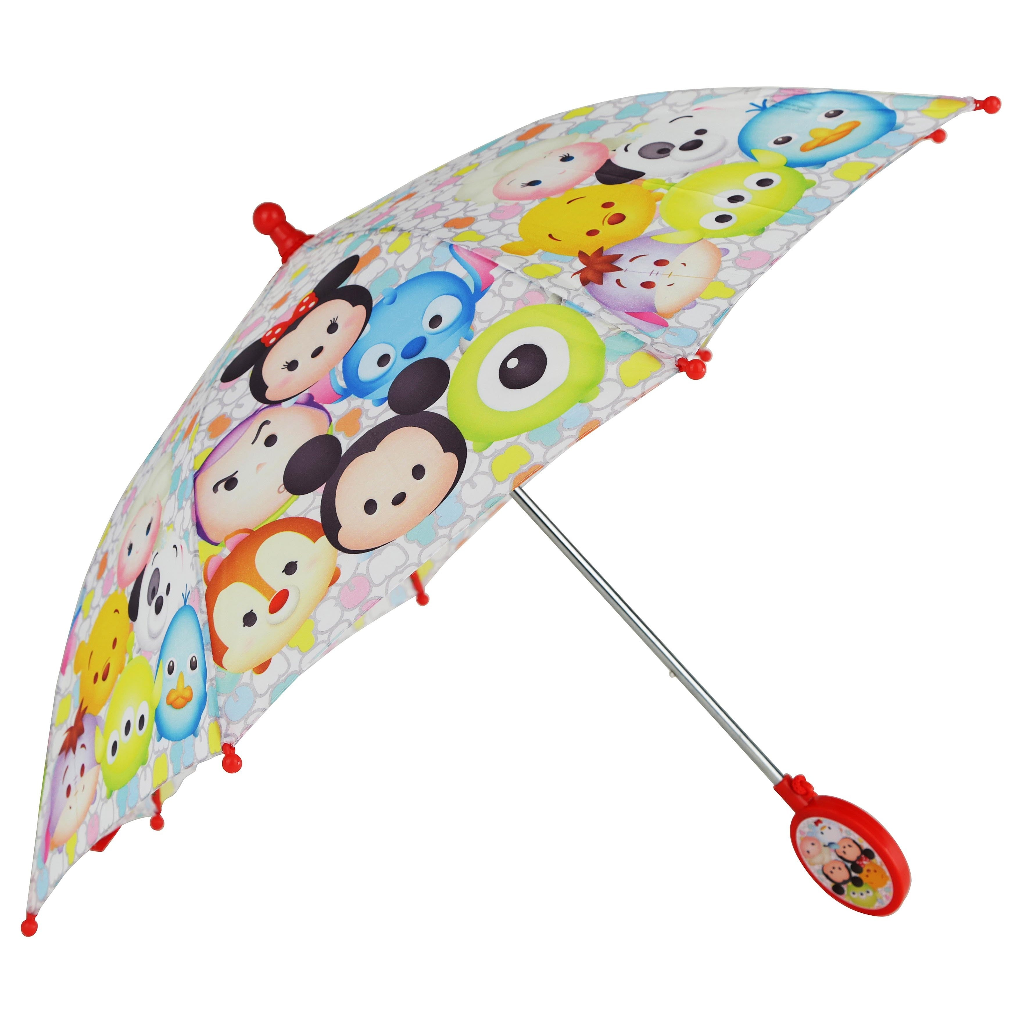 Disney Tsum Tsum Multicolor Polyester 3-D Handle Umbrella...