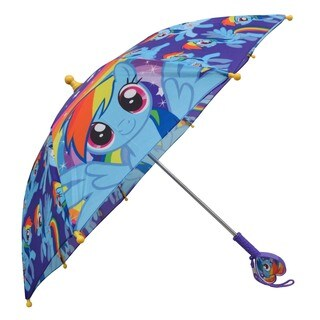 Hasbro My Little Pony Multicolor Polyester Girls' 3-D Handle Umbrella
