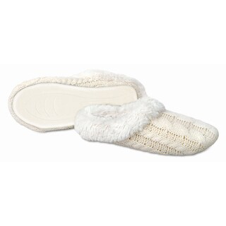 Sharper Image Cable Knit Memory Foam Slippers