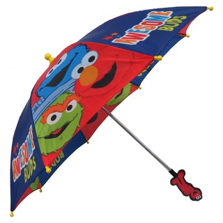 Sesame Street Boys' Awesome Buds Polyester 3D Handle Umbrella