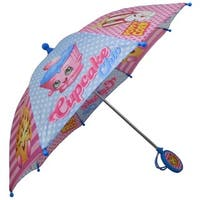 Shopkins Pink/Light Blue Polyester Girls' Umbrella