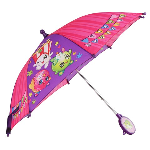 Shopkins Girls' Pink/Purple Umbrella