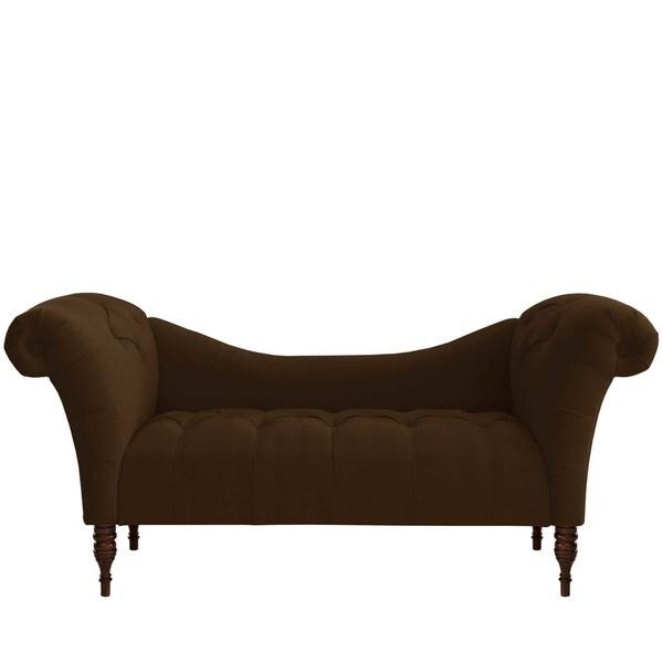 Skyline Furniture Custom Tufted Twill Settee Sofa