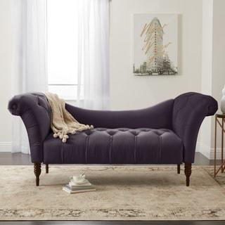 Great Skyline Furniture Custom Settee In Velvet