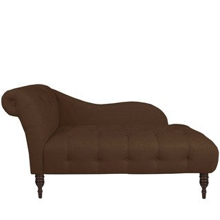 Skyline Furniture Custom Tufted Twill Chaise Lounge