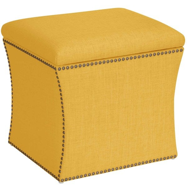 Skyline Furniture Linen Custom Storage Ottoman