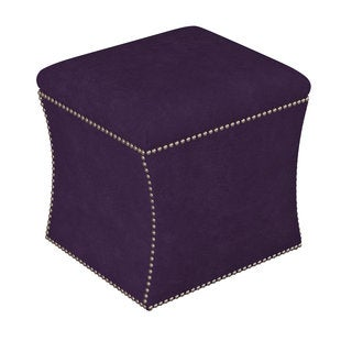 Skyline Furniture Velvet Fabric/Pine Custom Storage Ottoman