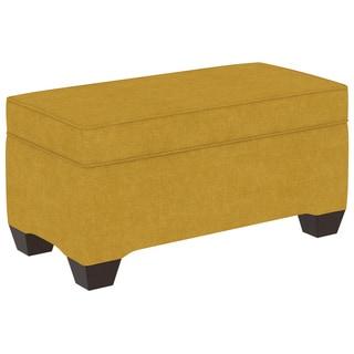 Skyline Furniture Espresso Finish Linen Upholstered Wood Custom Bench
