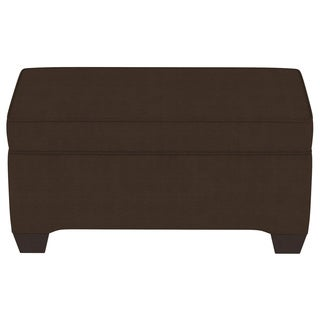 Skyline Furniture Solid-colored Twill/Pine/Foam Bench