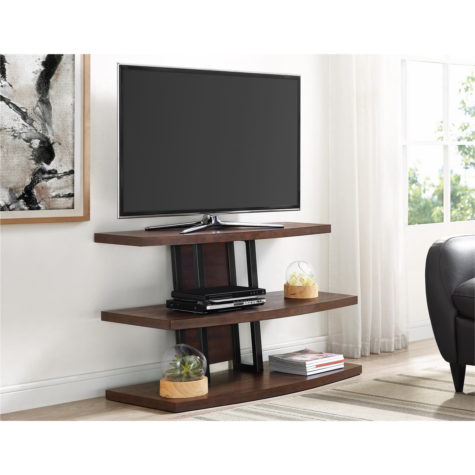 Shop Ameriwood Home Castling Espresso Black Tv Stand For Tvs Up To
