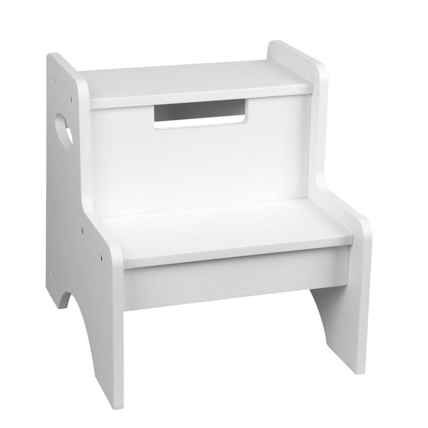 Levels of Discovery White Two-step Stool