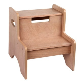 Levels of Discovery Oak-finish Wood and MDF Two-step Stool