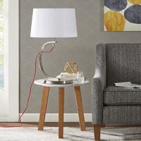 Madison Park Octavia Silver Table Lamp with Red Cord