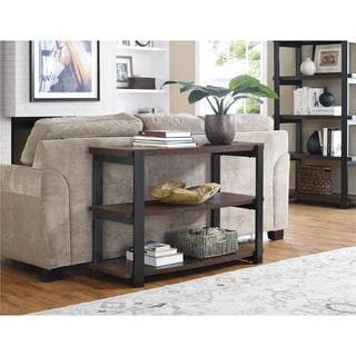 Ameriwood Home Castling Espresso/ Black Console Table