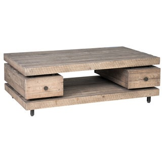 Peyton Natural Reclaimed Wood Coffee Table by Kosas Home