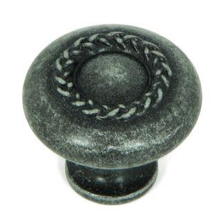 Stone Mill Hardware Grey Iron Swedish Iron Rope Cabinet Knob (Pack of 25)