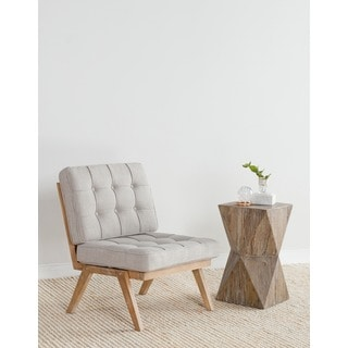 Mercer Natural Reclaimed Elm Side Table by Kosas Home