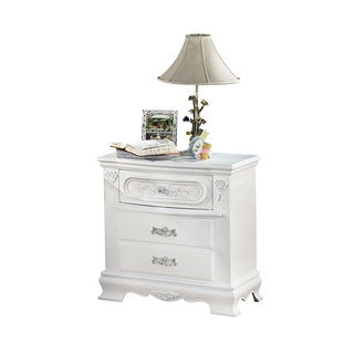 Acme Furniture Flora White Wood 3-drawer Nightstand