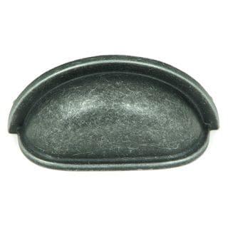 Stone Mill Swedish Grey Zinc Iron Cup Pulls (Pack of 5)