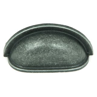 Stone Mill Swedish Grey Iron Cup-shaped Cabinet Pull (Pack of 10)