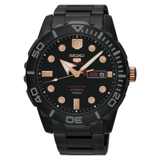 Seiko 5 Sports SRPA33K1 Men's Black Dial Watch