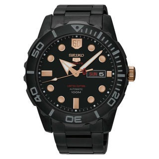 Seiko 5 Sports SRPA33K1 Men's Black Dial Watch