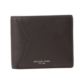 Michael Kors Bryant Brown Leather Billfold Wallet