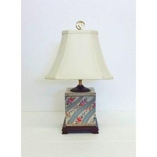 Floral Ettiene Porcelain Box Table Lamp