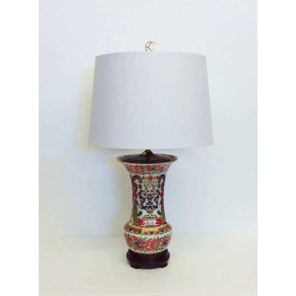 Silk and Porcelain Bollywood-inspired Table Lamp