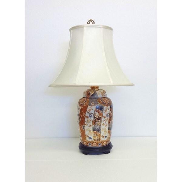 Golden Nippon Multicolor Porcelain Jar Lamp
