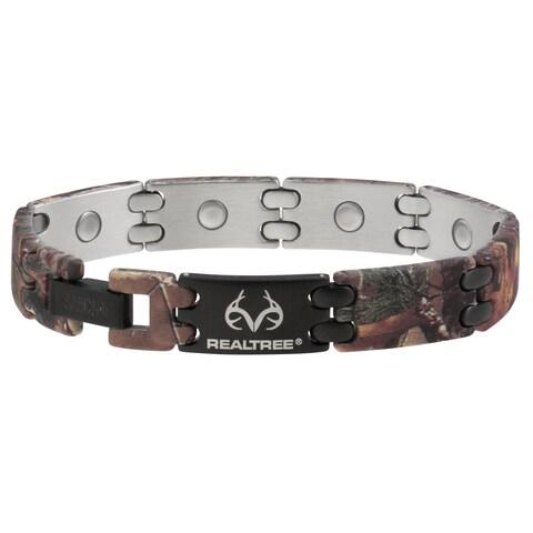 Sabona Realtree Camouflage and Black Sport Magnetic Bracelet