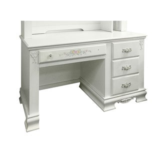 Acme Furniture Flora White Wood Computer Desk