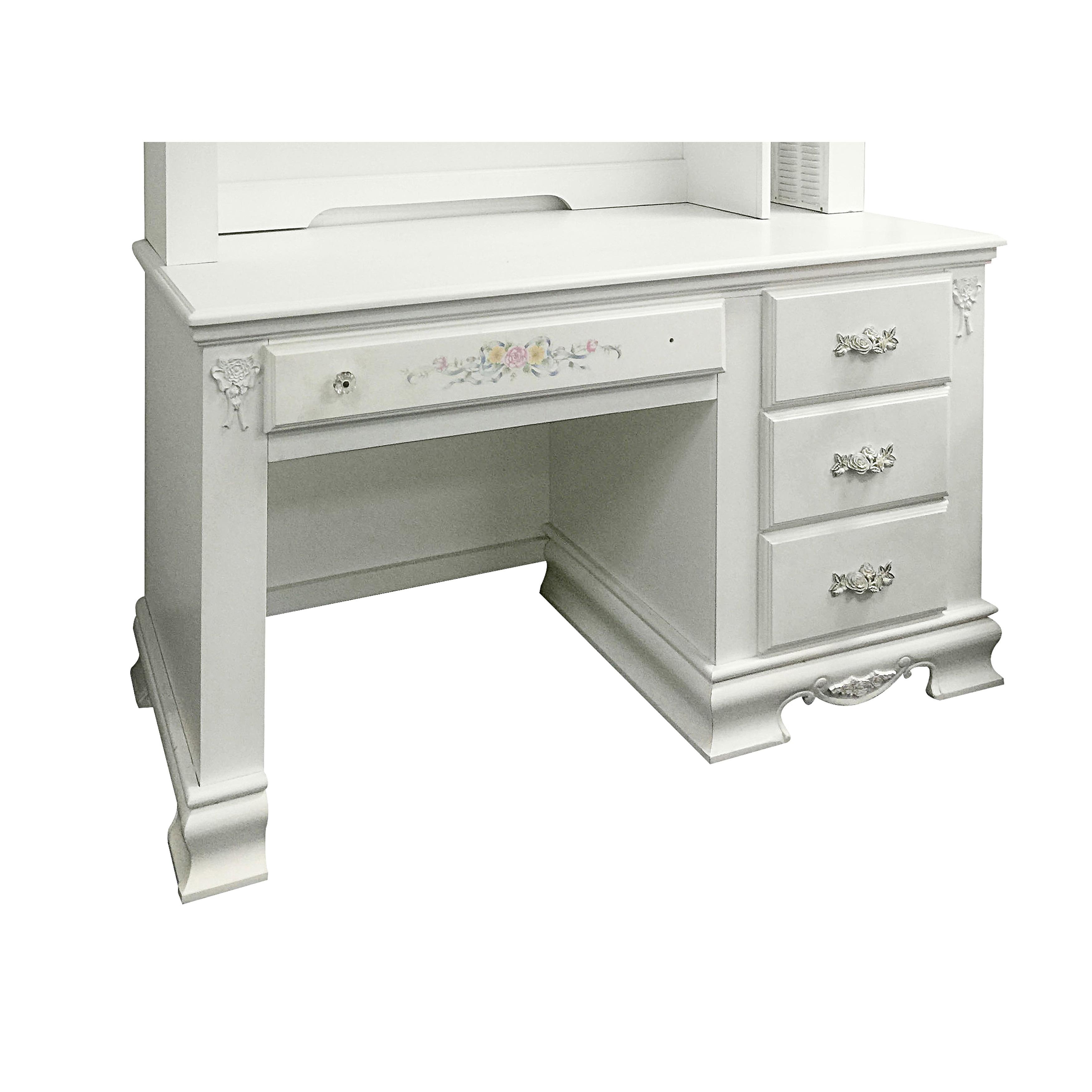 ACME Furniture Flora White Wood Computer Desk (Computer D...