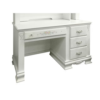 Acme Furniture Flora White Wood Computer Desk