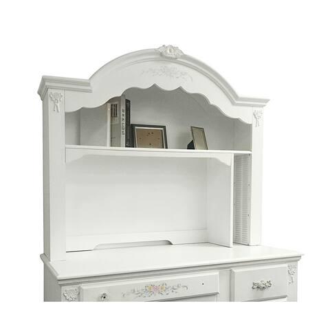 Acme Furniture White Wood/MDF Flora Computer Hutch