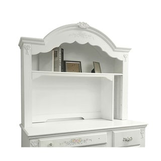 Acme Furniture White Wood/MDF Flora Computer Hutch
