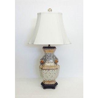 Golden Hays Porcelain Hexagon Vase Lamp