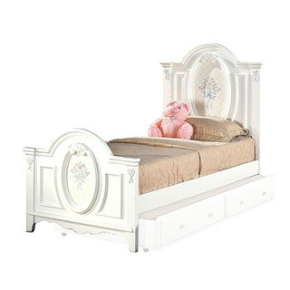 Acme Furniture Flora White Twin or Full Size Panel Bed