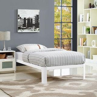 Corinne Twin-size White Platform Bed Frame