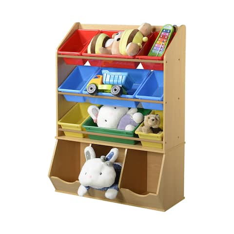 American Furniture Classics 12-Bin Toy Organizer with 9 Removable Bins