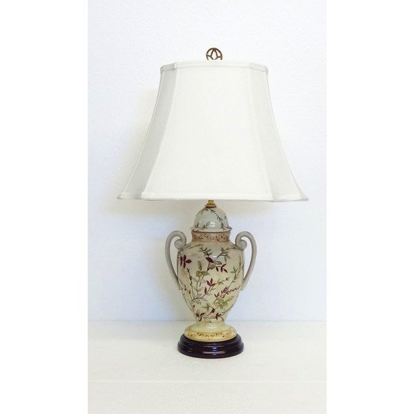 Fall Hays Trophy Jar Floral Porcelain Lamp