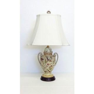 Fall Hays Trophy Jar Floral Porcelain Lamp