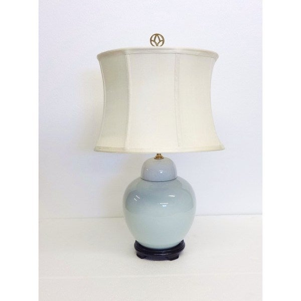 White-wash Cover Porcelain Large Jar Table Lamp