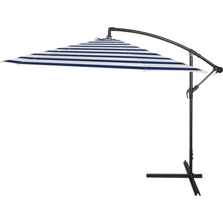Trademark Innovations Blue/White Polyester Patio Umbrella