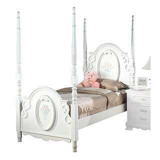 Acme Furniture Flora White Poster Bed