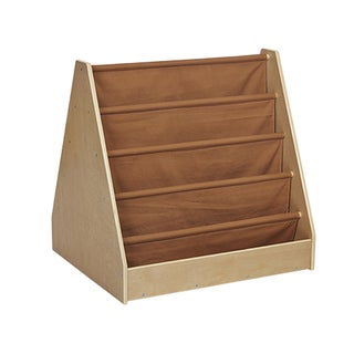 Offex 2-Sided Display Book Storage - Fabric