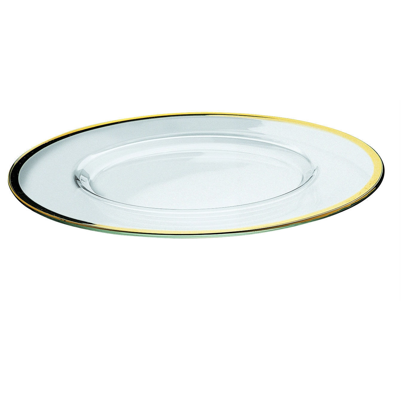 Majestic Gifts Glass 12.5-inch-deep Quality Charger Plate...